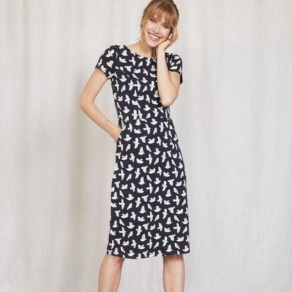 f327f81287f8e Boden Dresses & Skirts - Boden Phoebe Jersey Dress Bird Pattern